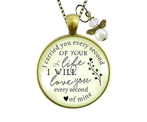 Gutsy Goodness 24' I Carried You Miscarriage Necklace Baby Loss Angel Charm Jewelry Gift