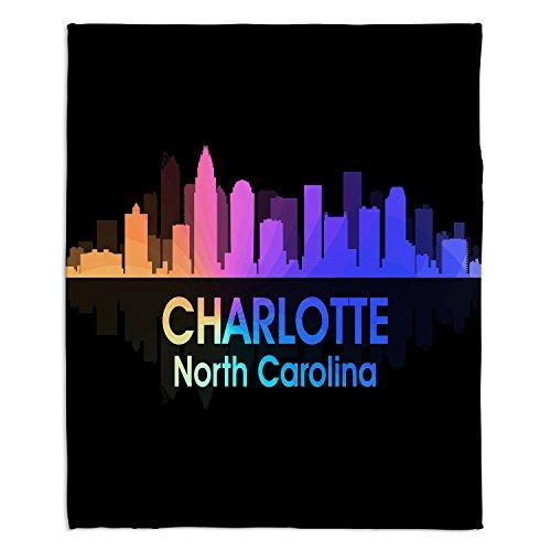 Dekens Ultra Soft Fuzzy Fleece 4 maten! DiaNoche Designs - Angelina Vick City V Charlotte North Carolina huisdecoratie slaapbank gooien dekens Medium 60