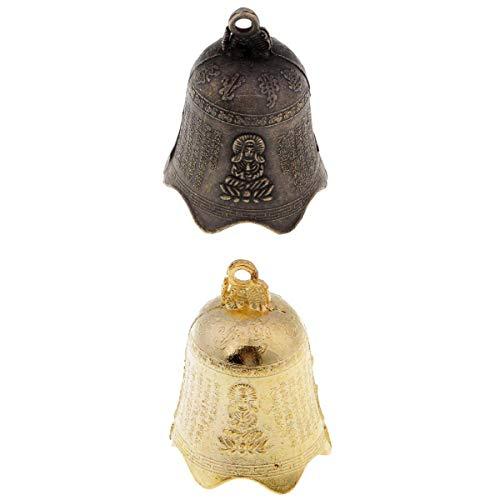 Homyl Carillons Éoliens Bell Antique Suspendus Décor Noël en Acier Inoxydable