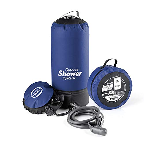 Camp Shower Portable Outdoor Camping Shower Bag with Pressure Foot Pump and...