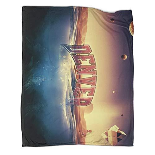 STTYE Denver Pioneers - Coperte da letto, 180 x 230 cm, motivo: squadra di hockey, in microfibra, per letto e divano