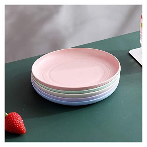 Encantador Vajilla de estilo japonés de paja, platos para el hogar, platos de hueso pequeños, platos de frutas, platos para estudiantes, platos anti-gotas y platos de platos (tamaño: 7.8x0.6in)