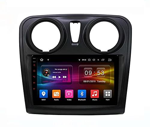Dmnsdd Coche Estéreo Android 10.0 Radio Para Logan 2 2012-2019 Gps Navegación Gps Línea De Cabeza 9 Pulgadas Pantalla Táctil Mp5 Multimedia Player V(Size:Opción B/ocho núcleos,Color:WIFI:4GB+64GB)