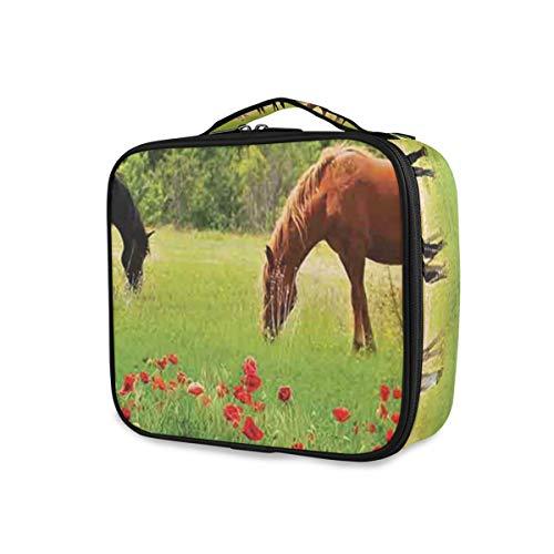 SUGARHE Pferde Verschiedene Arten des Essens des Rasenfläche Berglandschafts ländlichen Motivs...