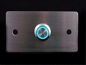 Design belplaat, V2A roestvrij stalen deurbel, beste cadeau voor verplaatsing, deurbelplaat, roestvrij stalen knop met of ...