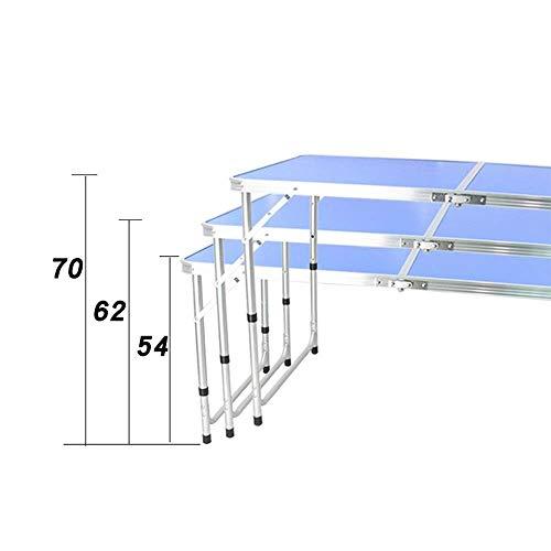 41TgdQZZJjL - JJSFJH Aluminium Außenklapptisch Pendulum Barbecue Camping Zubehör kann über Klappstuhl beweglichen im Freien Picknick-Tisch Adjustable, Folding Camping Tisch mit 4 Stühlen