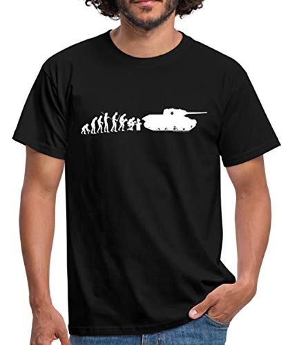 World of Tanks Evolution Panzer Männer T-Shirt, XL, Schwarz