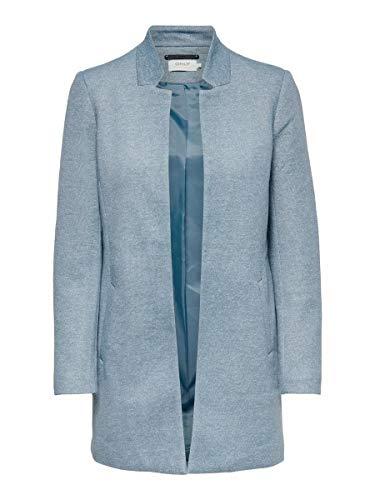 Only ONLSOHO Coatigan OTW Noos, Blue Fog/Detail:MELANGE, S para Mujer