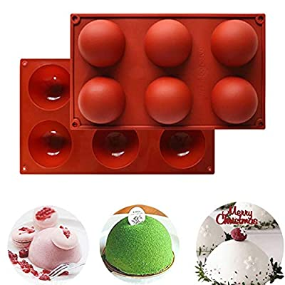 6 Holes Silicone Kitchen Mold,Baking Mold for C...
