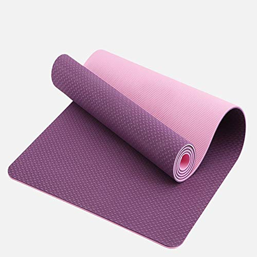 Home Gyms Yoga Mat Xn8 Non Esercizio Slittamento Yoga Mat-6mm-Thick-Carry-Bag-Pilates-Fitness (Color : Purple)