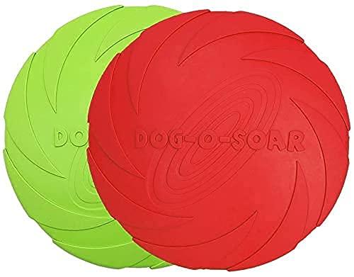 Dog Frisbee Disc,2 Pack 15cm Weiche Hunde Frisbee,Naturkautschuk schwimmende Fliegende Untertasse,Spielzeug für Hunde