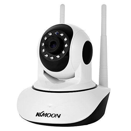 """KKmoon Wireless Security Camera,IP Camera 720P,WiFi Home Indoor Camera,Pan Tilt HD 1.0MP 1/4"""" CMOS,3.6mm Lens,Support PTZ Two-way Audio,Night Vision,APP Control,Motion Detection,TF Card,P2P cloud"""