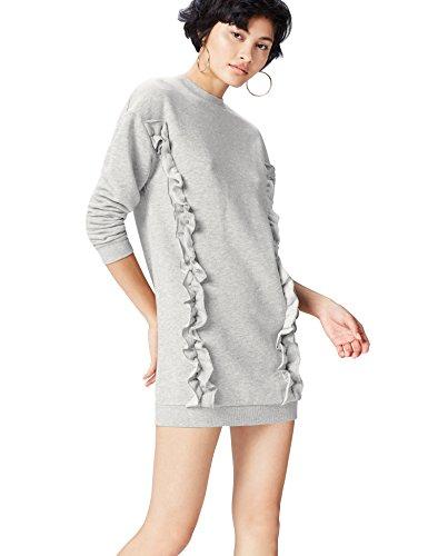 Marca Amazon - find. Sudadera Oversized con Volantes para Mujer