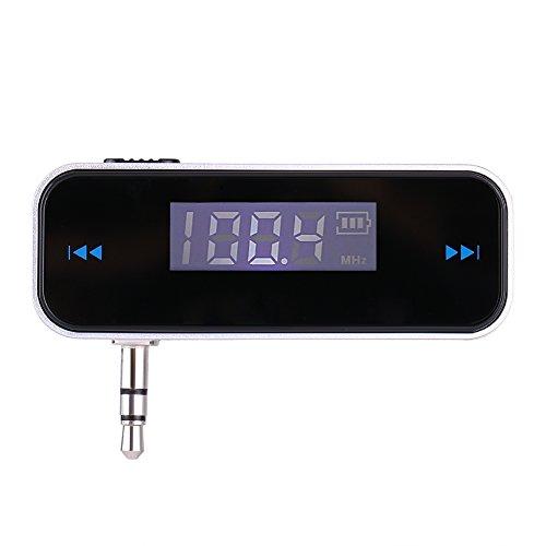VBESTLIFE Transmetteur FM Universel, Kit de Voiture Main-Libre Adaptateur Radio sans Fil avec Prise Audio 3,5 mm pour Android, pour iOS, pour iOS, pour iOS, Samsung, HTC, MP3, MP4 etc.