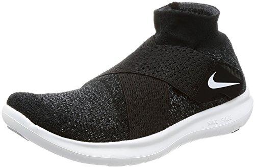 Nike W Free RN Motion FK 2017, Zapatillas de Trail Running para Mujer, Negro (Black/White/Dark Grey/Volt 003), 36 EU