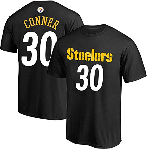 NFL Youth 8-20 Team Color Polyester Performance Mainliner Player Name and Number Jersey T-Shirt (Large 14/16, James Conner Pittsburgh Steelers Black Home)