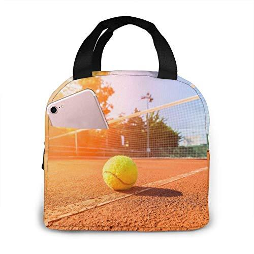 Lunchtasche mit Tennisball, Sonnenschein, modisch, super großes Fassungsvermögen, praktisch, tragbar, isoliert