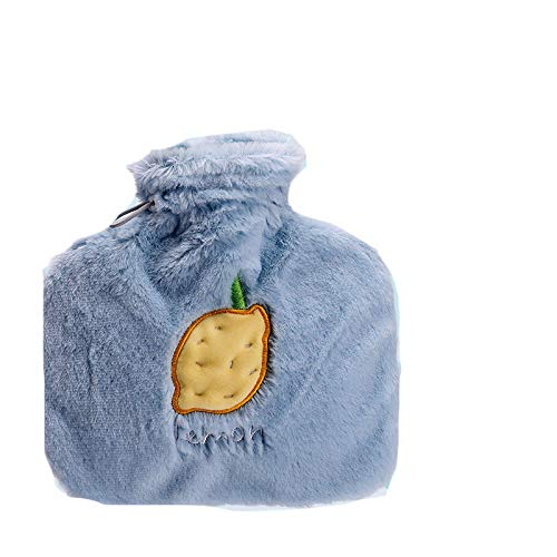 manyan Hot Water Bottle,2Pcs/1Liter Plush Hot Water Bottle, Removable And Washable Flannel Cover, Hand Warmer, Water Bottle