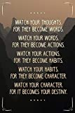 Watch Your Thoughts Mountains Motivational Cubicle Locker Mini Art Poster 8x12