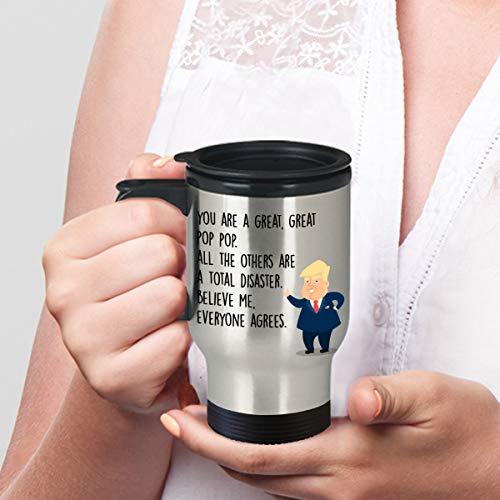Thomas655 Donald Trump Popop Beker reisbeker geschenken voor pop-up popop De man Der Mythos legende beker grappige familiereisbeker Kerstmis Valentijnsdag
