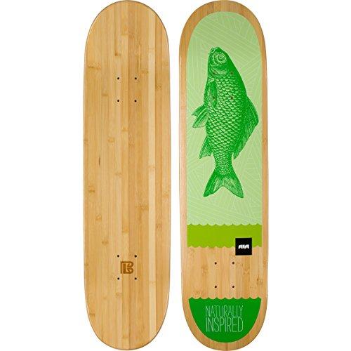 Bamboo Skateboards Green Fish Graphic Skateboard-Deck, 21 x 81,3 cm