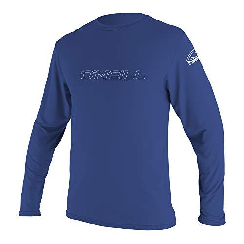 O\'Neill Wetsuits Herren Basic Skins L/S Rash Tee Vest, Pacific, M
