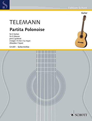 Partita Polonaise A-Dur: 2 Gitarren. (Edition Schott)