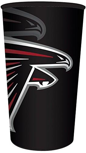 Creative Converting NFL 20 Count Plastic Souvenir Cups, Atlanta Falcons, 22 oz, Red
