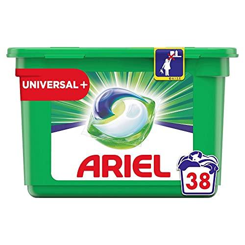 Ariel Waschmittel Pods All-in-1, 38 Waschladungen, Universal Frischer Wäscheduft und strahlende Reinheit
