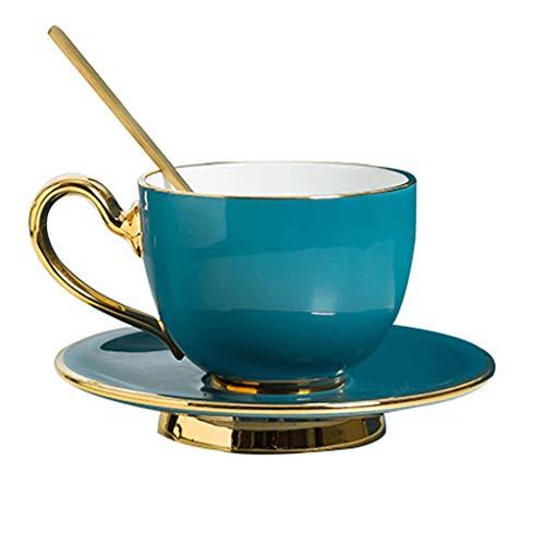 Tazas de cafe Nórdico minimalista taza de café Conjunto Europea Small Luxury Bone China Copa de té de la tarde café cappuccino británica taza de café Coffee Cup (Size : A)