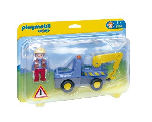 PLAYMOBIL 1.2.3 - Camión con grúa, Playsets de Figuras de Juguete, 27 x 7,3 x 20,3 cm, (6791)