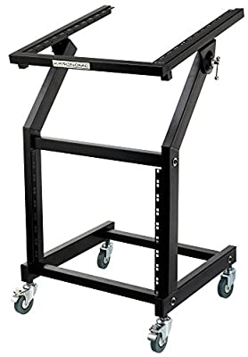 Pronomic MXS-600 Mobile Rack Trolley With 21 Rack Units and Wheels (for 19-Inch Devices, 19+9RU) Black