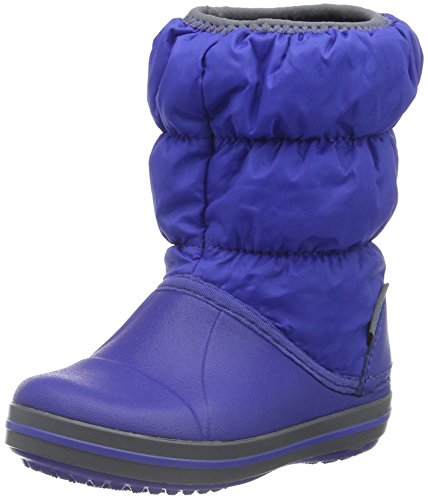 Crocs Winter Puff Boot Kids, Unisex - Kinder Schneestiefel, Blau (Cerulean Blue/Light Grey), 32/33...