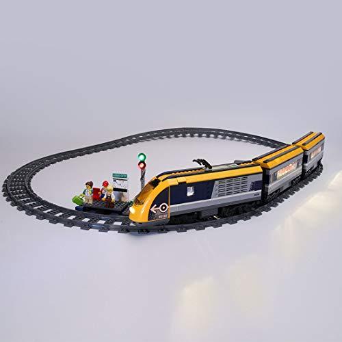POXL Kit de Luces LED Iluminación para Lego City Tren De Pasajeros 60197 Luz - Juego de Lego no Incluido