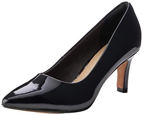 Clarks Illeana Tulip, Zapatos de Vestir par Uniforme Mujer, Pat Negro, 41 EU