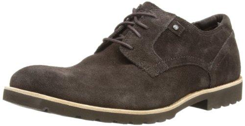Rockport Lh Plaintoe Tumbled, Zapatos de Cordones Derby Hombre, Dark Bitter Chocolate, 7 UK 2E