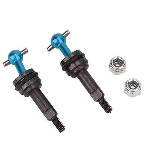 FEIFUSHIDIAN Tough 2 piezas RC Car Universal Drive Joint Fit para WLtoys 1/28 K969 K989 P929 Mando a distancia de repuesto para coche, accesorios de modelo de vehículo duraderos (color: azul)