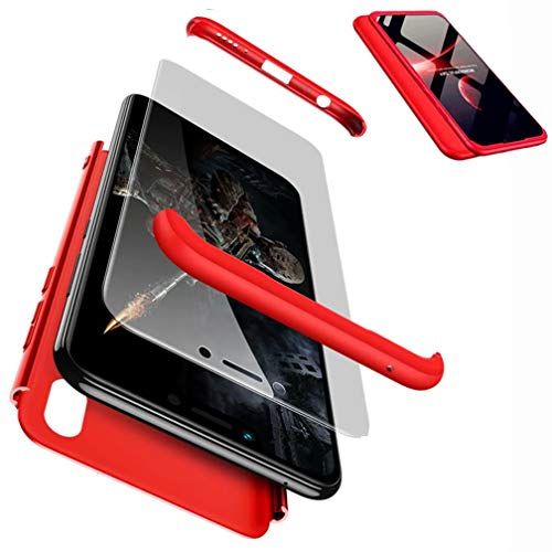 CIRRYS kompatibel mit Handyhülle Handyhülle für Oppo find x Hülle+Nicht enthalten Panzerglas Extra Dünn Ultra Slim Cover Schutzhülle Schale Hardcase - Rot