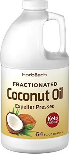 Liquid Coconut Oil for Cooking   64 oz   Fractionated & Unflavored   Keto Friendly   Vegetarian, Non-GMO & Gluten Free   by Horbaach
