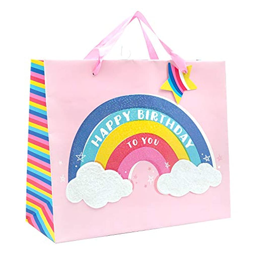 American Crafts 354098 Rainbow Star Gift Bag, Multi