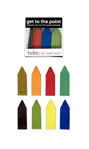 Get to the Point Magnetic Bookmarks Earthtone Color Line Markers (1 Box of 20)
