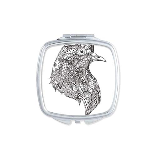 DIYthinker Bleu Whale Big Strong Heart Maquillage Miroir Compact Portable Cute Cadeau Miroirs de Poche à la Main Multicolor