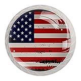 Tirador de manijas de cajón para el hogar, cocina, tocador, armario-Bandera americana, desordenado