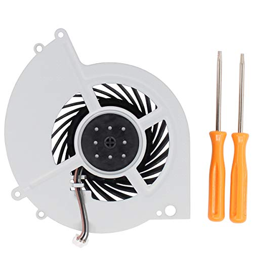 XtremeAmazing Internal Cooling Fan CPU Cooler Fan for Sony Playstation 4 PS4 CUH-1200 CUH-1200AB01 CUH-1200AB02 CUH-12XX CUH-1215A CUH-1215B KSB0912HE with T8 T10 Screwdriver Tool