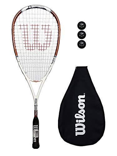 Wilson NCode NSword Squashschläger + 3 Squashbälle