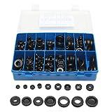 C-FUNN 250Pcs Rubber Grommet Guarnizione Foro Spina Set Elettrico Filo Guarnizione Assorti...