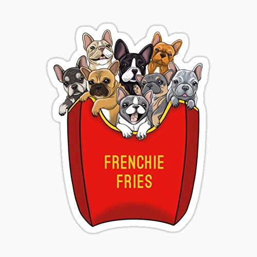 French Bulldog Frenchie Fries Sticker - Sticker Graphic - Waterproof - Fade Resistant Die Cut