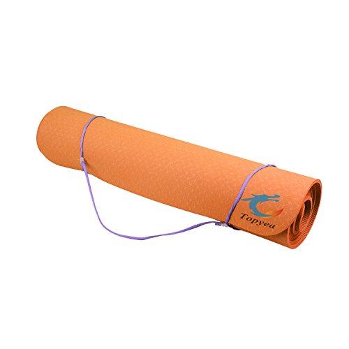 ヨガマット,引き裂抵抗力があって体を鍛える用ヨガマット,エコヨガマット,滑り止め付き,自宅あるいはアウトドアでも使用できます(厚さ:0、25mm 、幅:24mm×71mm)