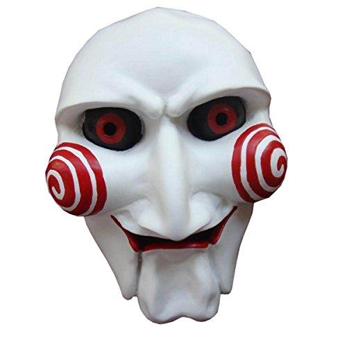 Nihiug Halloween Cos Saw Crack Mask Terror Ball Partido Blanco Matar Diablo...