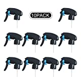 Fizzcraft 10 Pcs Black Sprayer Heavy Duty Fine Mist Stream Sprayer Replacement Spray Nozzles Great for Cleaning Products Garden